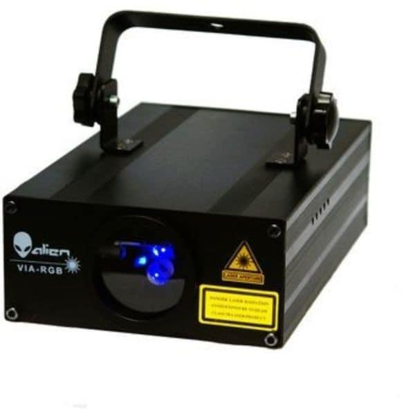 Laser ALIEN PRO VIA RGB 8 Canales DMX Audioritmico