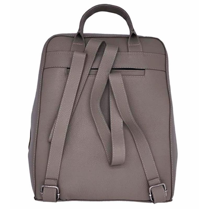 Bolsa Backpack Beige con Artesanía