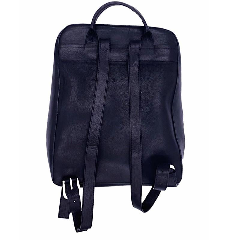 Bolsa Backpack Negra con Artesanía