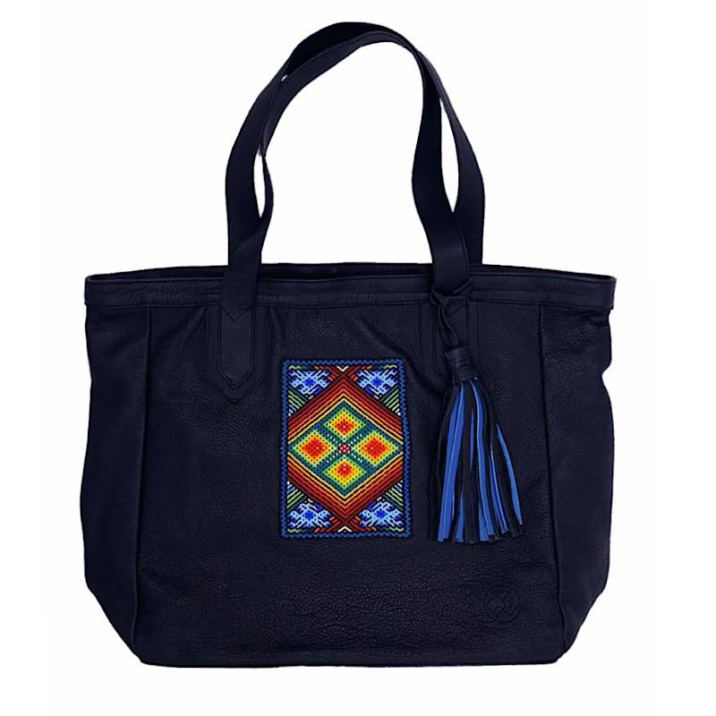 Bolsa Chanti Negra con Artesanía