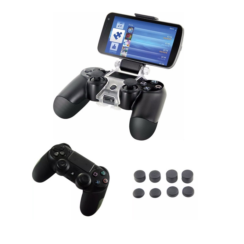Ps4 Clip Controles Playstation  4 - Funda Pro - Grips Negros
