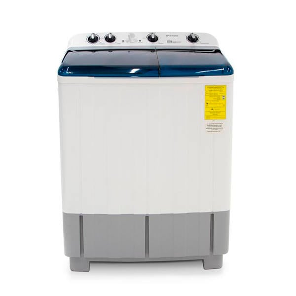 Lavadora semiautomática Daewoo 2 tinas color blanco modelo DWM-K243PW