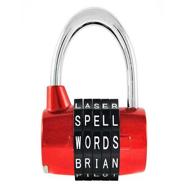 Candado para maletas letters rojo