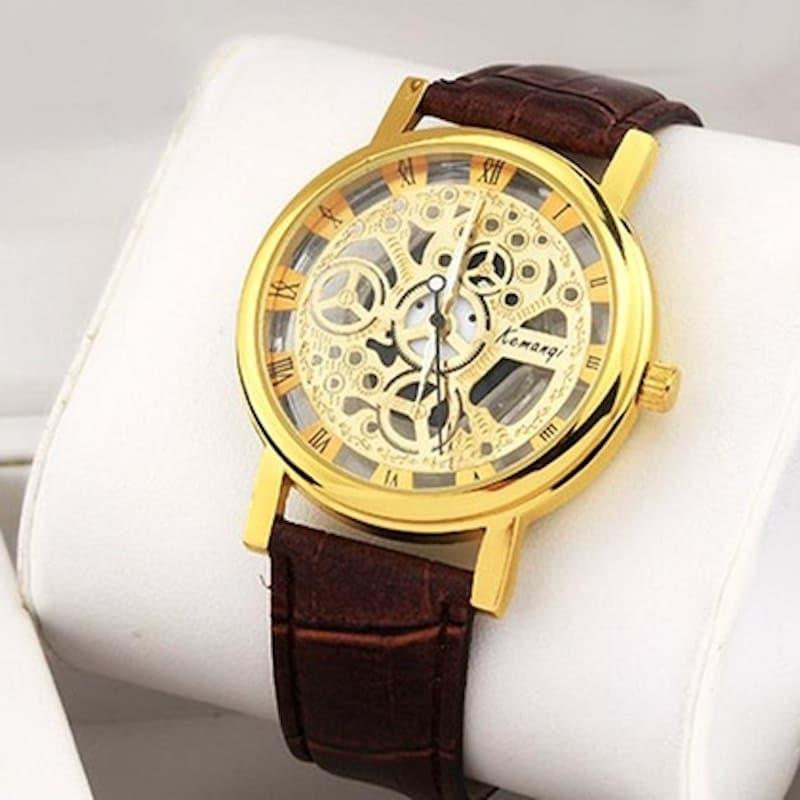 Reloj Luxury Leather café