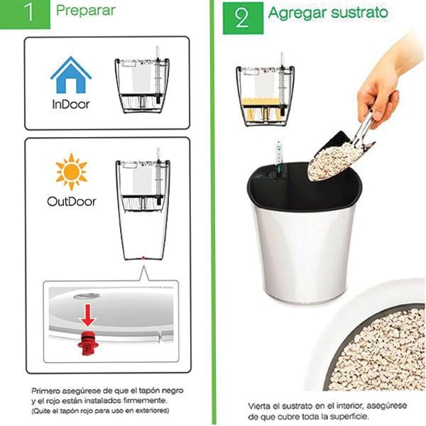 Smart Garden Maceta Autorregable RA4538 - Grande Moderna - Riego Inteligente