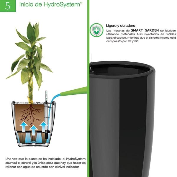 Smart Garden Maceta Autorregable LQ1223 - Chica Moderna - Riego Inteligente