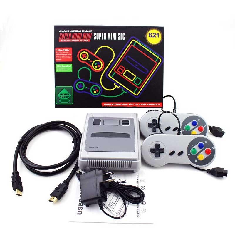 Consola Retro Super Mini 621 Juegos 2 Mandos Hdmi Sfc-621