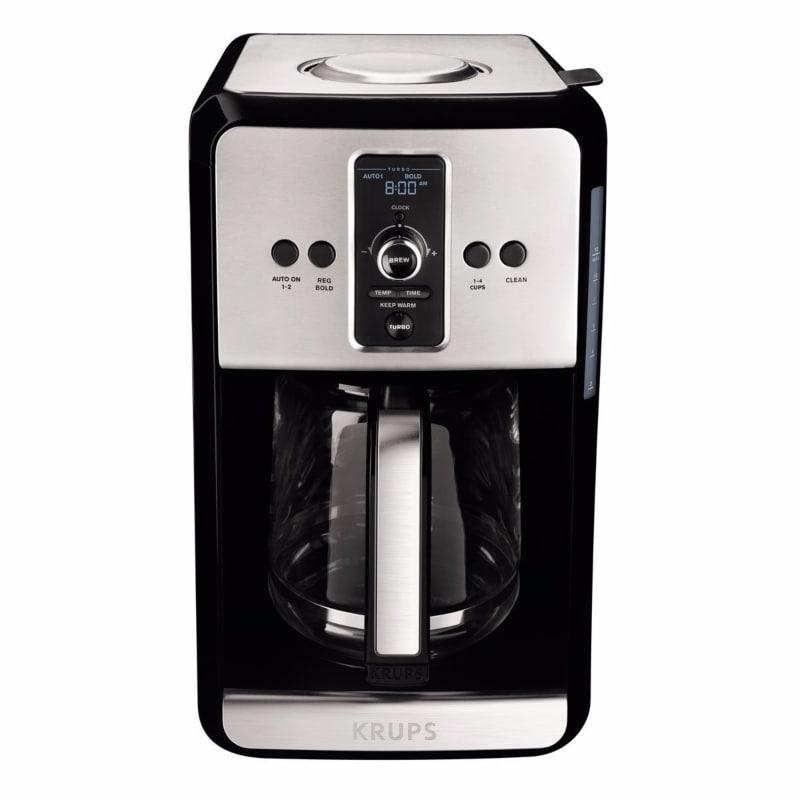 Cafetera Programable Krups EC414050 Pantalla Lcd 12 Tazas - Gris