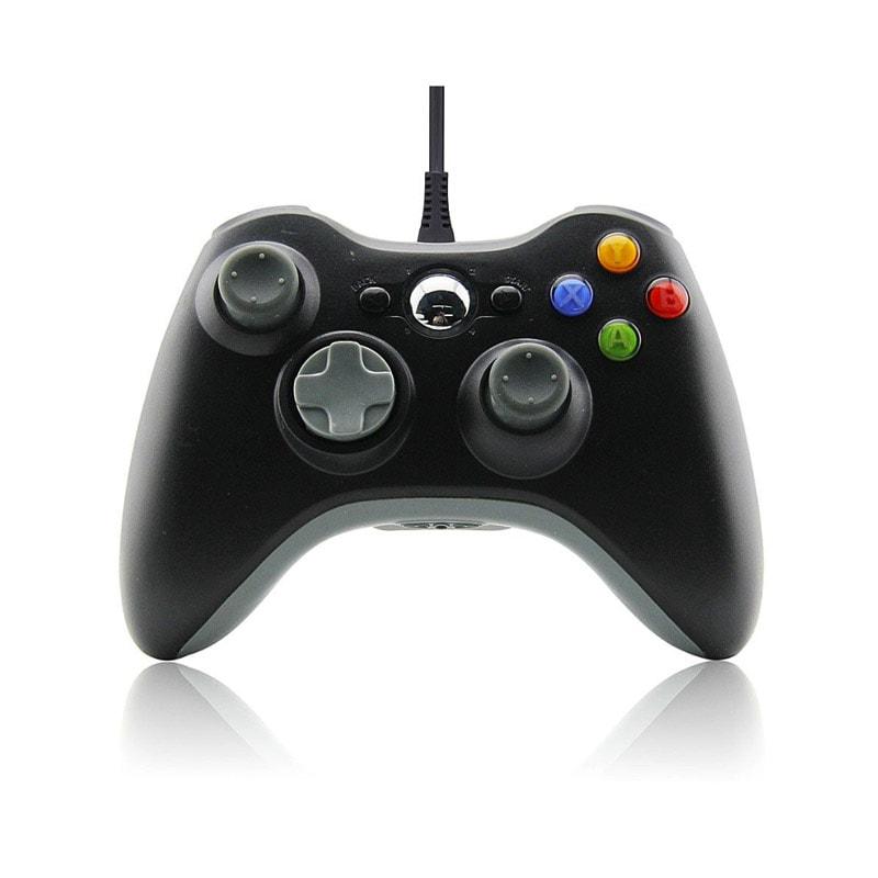 Xbox 360 Control Alámbrico Color Negro