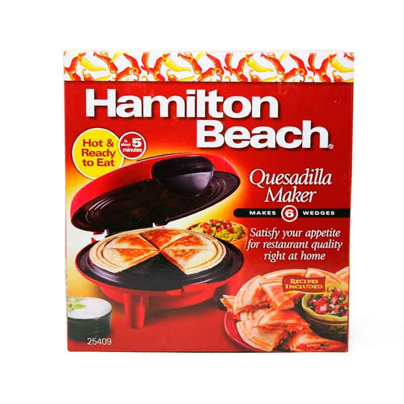 Plancha Parrilla Quesadillera con Antiadherente Roja Hamilton Beach 25409
