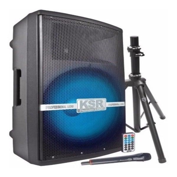 Bafle Bocina MSA 8015 15 Plg 1200w Tripie Microfono Recargable