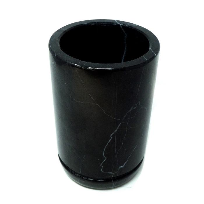 Enfriador de Vino Mármol Natural, Gris Mazahua / Enfriador de botella Mármol / Portátil / Decoración de hogar / Hecho de una pieza de Mármol