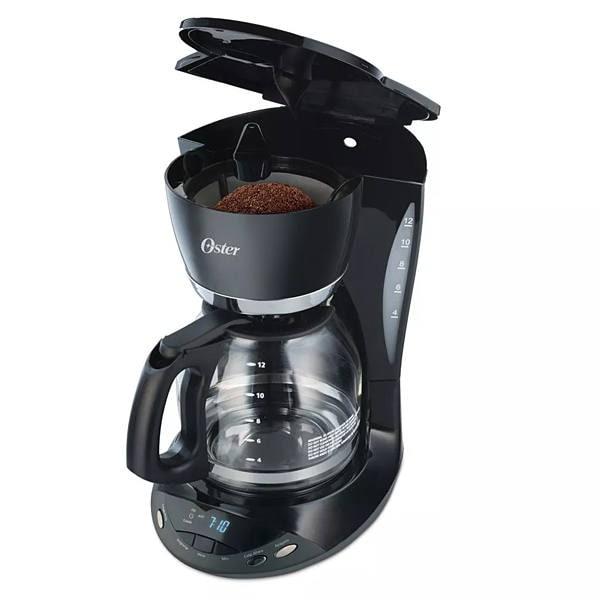 Cafetera Oster programable de  12 tazas color negro modelo BVSTDCDWX20B013
