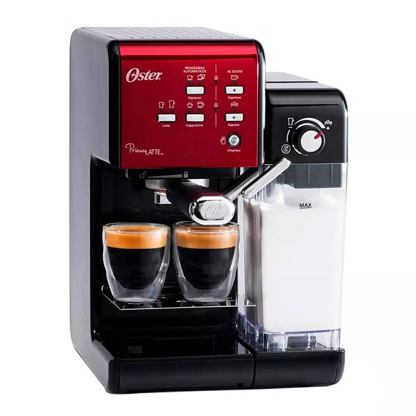 Cafetera Oster de 19 tazas  color rojo modelo PRIMA LATTE  BVSTEM6701R-013