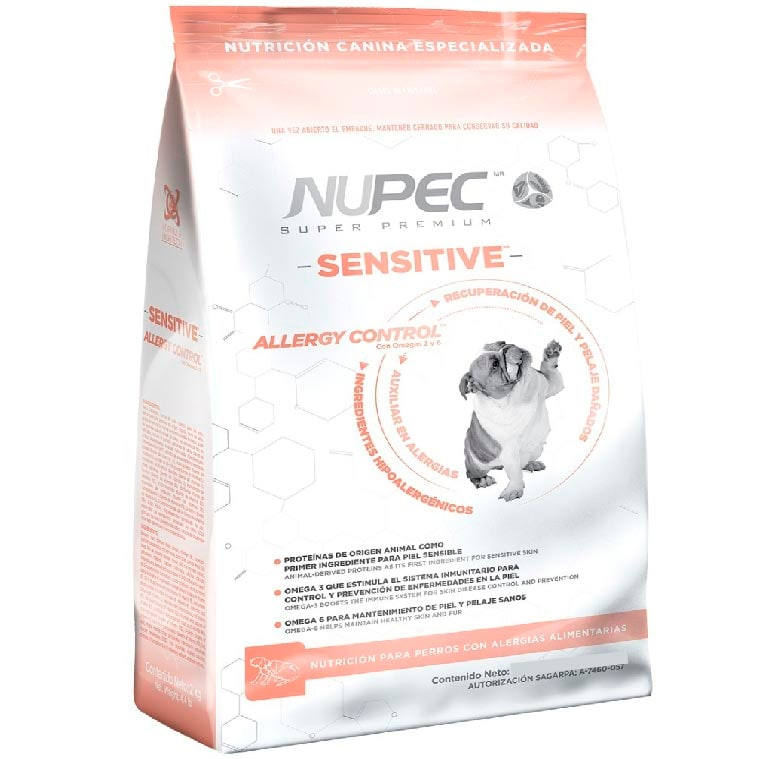 Nupec Sensitive 15 Kg - Alimento Piel Sensible