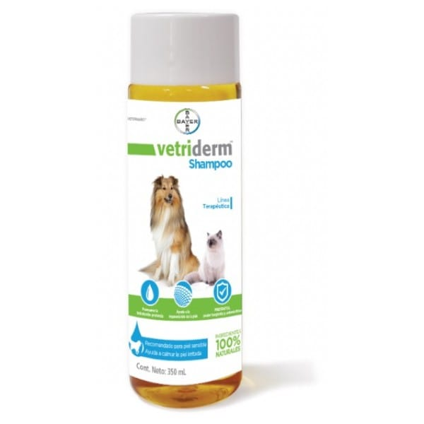 Shampoo Dermatologico Vetriderm Bayer - 350 Ml Para Perro