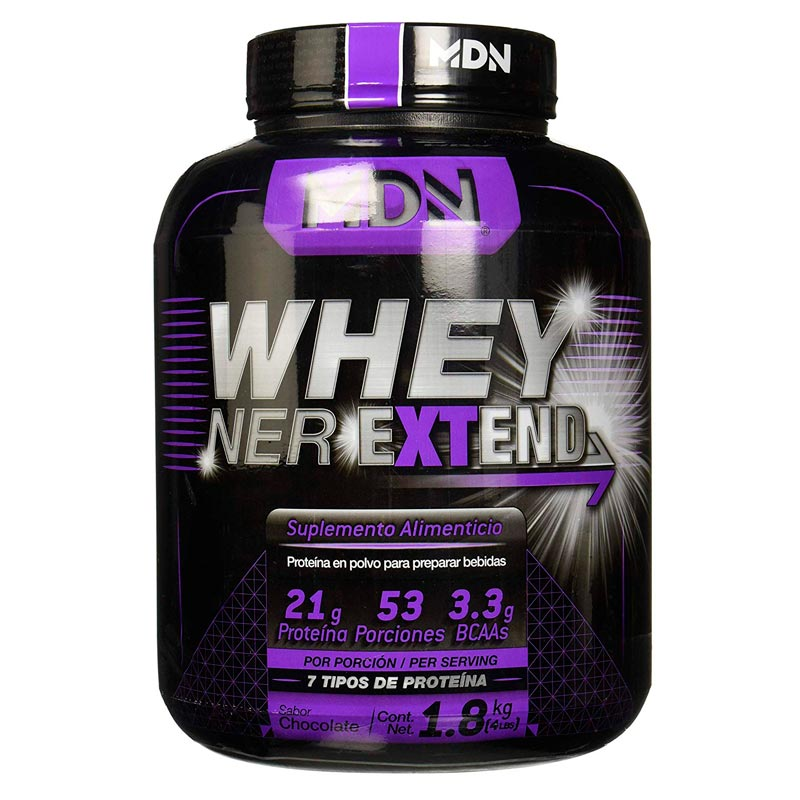 Proteina Mdn Whey Ner Extend 1.8 Kg - 53 Porciones Sabor Chocolate