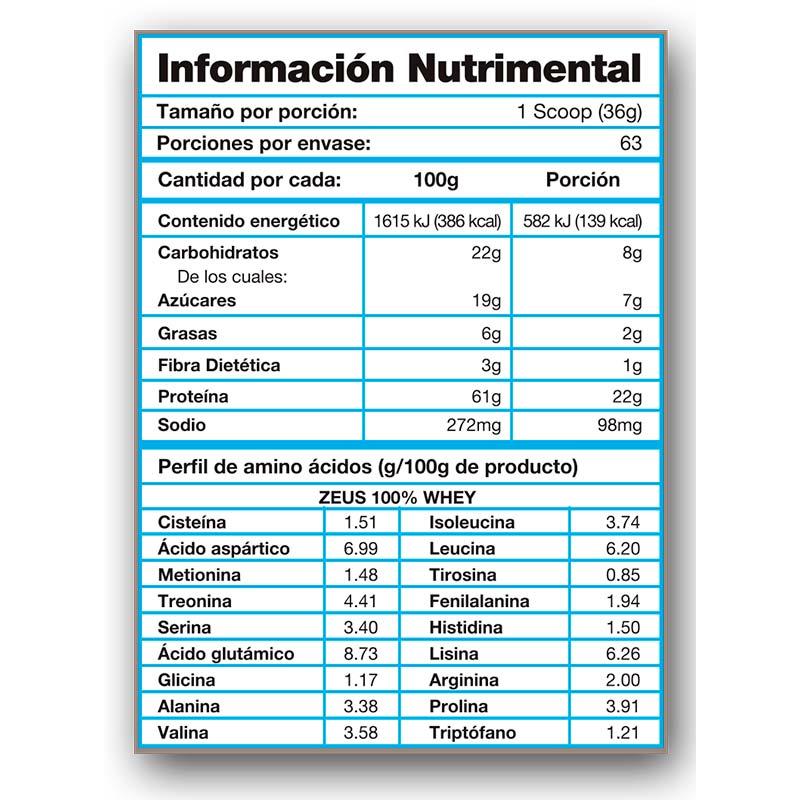 Proteina Olimpo Zeus 100% Whey 5 Lbs (2.2 Kg) Sabor Chocolate