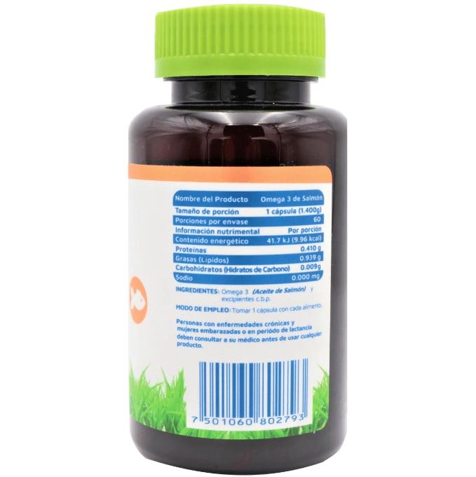 Suplemento alimenticio Omega 3 de Salmón 60 cápsulas