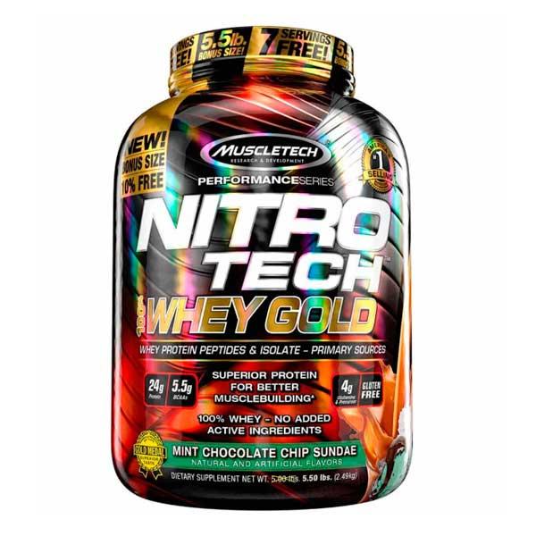 Proteina On Gold Standard Sabor Choco Mint 100% Whey 5 Lbs