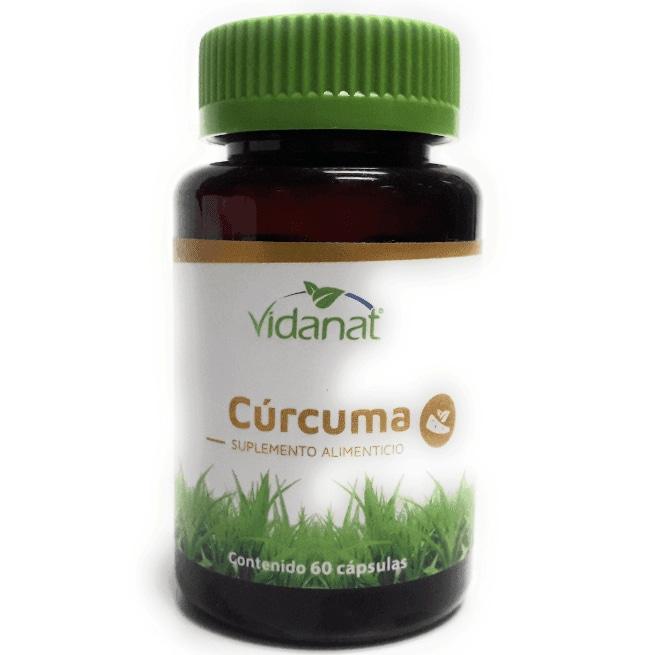 Suplemento Alimenticio, Cúrcuma, 60 cápsulas, Vidanat
