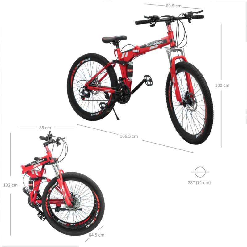 Bicicleta Montaña Altera 21 Velocidades Acero al Carbono Rodada 26