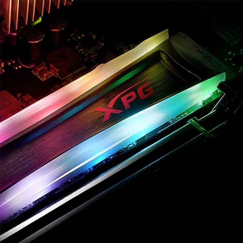 SSD M.2 256GB Disco Duro Solido XPG Spectrix S40G 2280 RGB AS40G-256GT-C