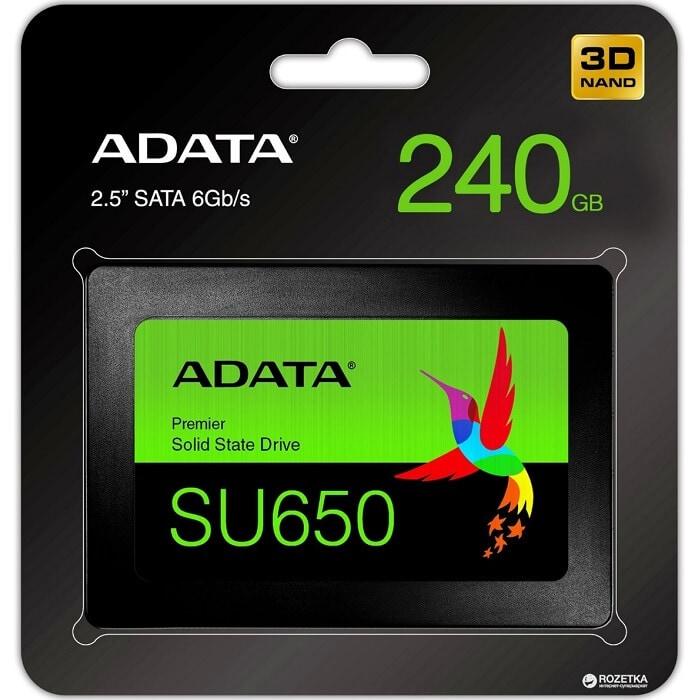 Unidad Estado Solido SSD 240GB ADATA Ultimate SU650 ASU650SS-240GT-R