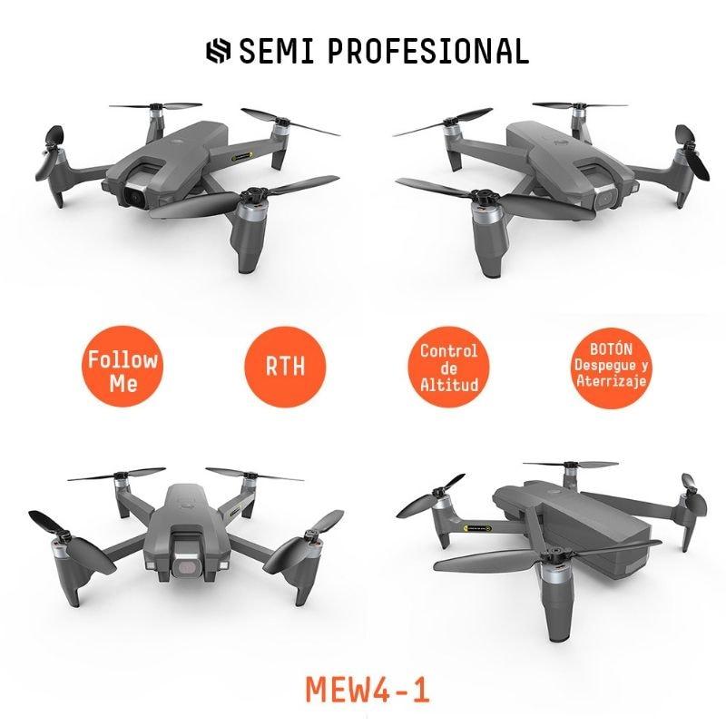 Drone Semi Profesional MEW4-1 Plegable con Cámara 2K 180º Velocidad 40km/h Wifi de 5Ghz BINDEN