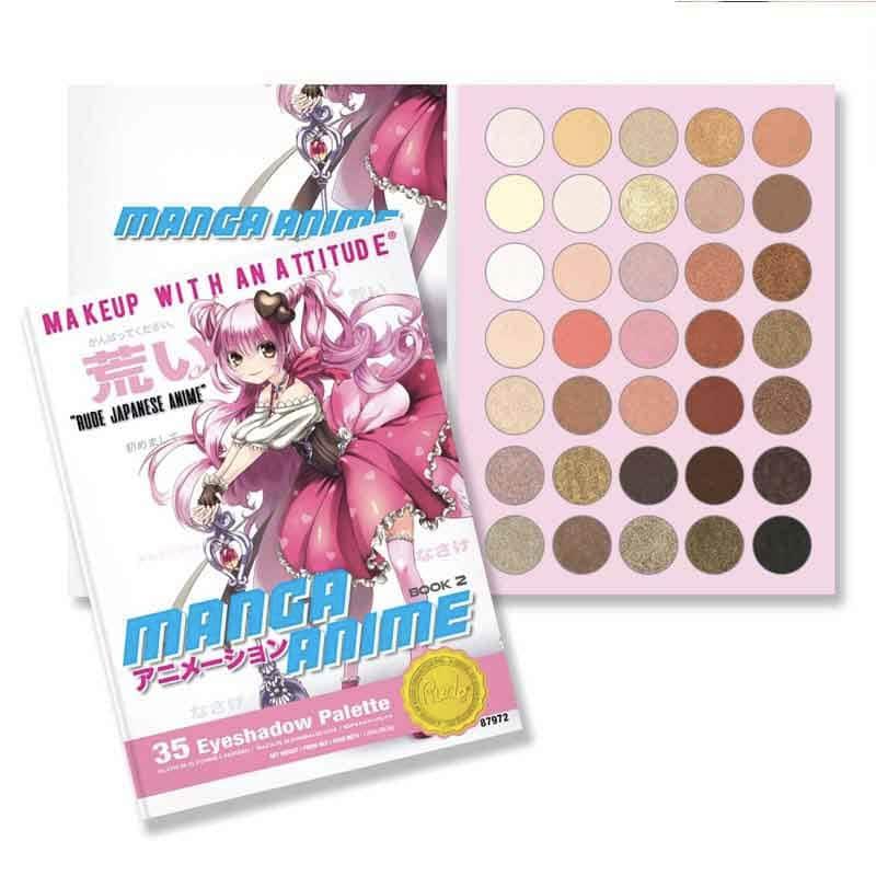 Manga Anime - Book 2 Rude Cosmetics  paleta de sombras