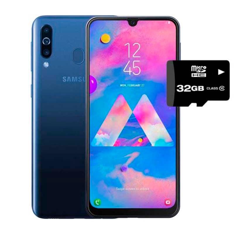 Celular Samsung Galaxy M30 - 3GB + 32G Azul Desbloqueado+ Micro SD 32GB
