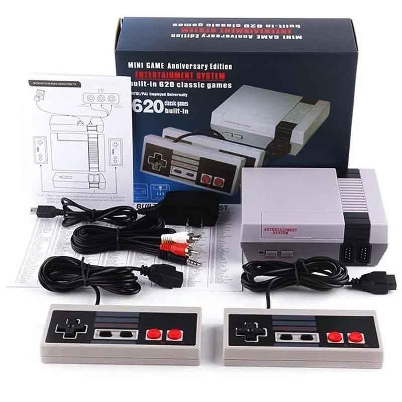 Mini Consola Retro Nes Incluye 620 Juegos Clasicos