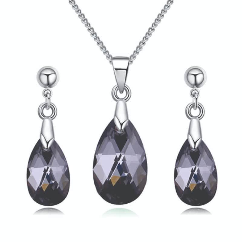 Conjunto Silver Night Shadow Kelwin Crystals