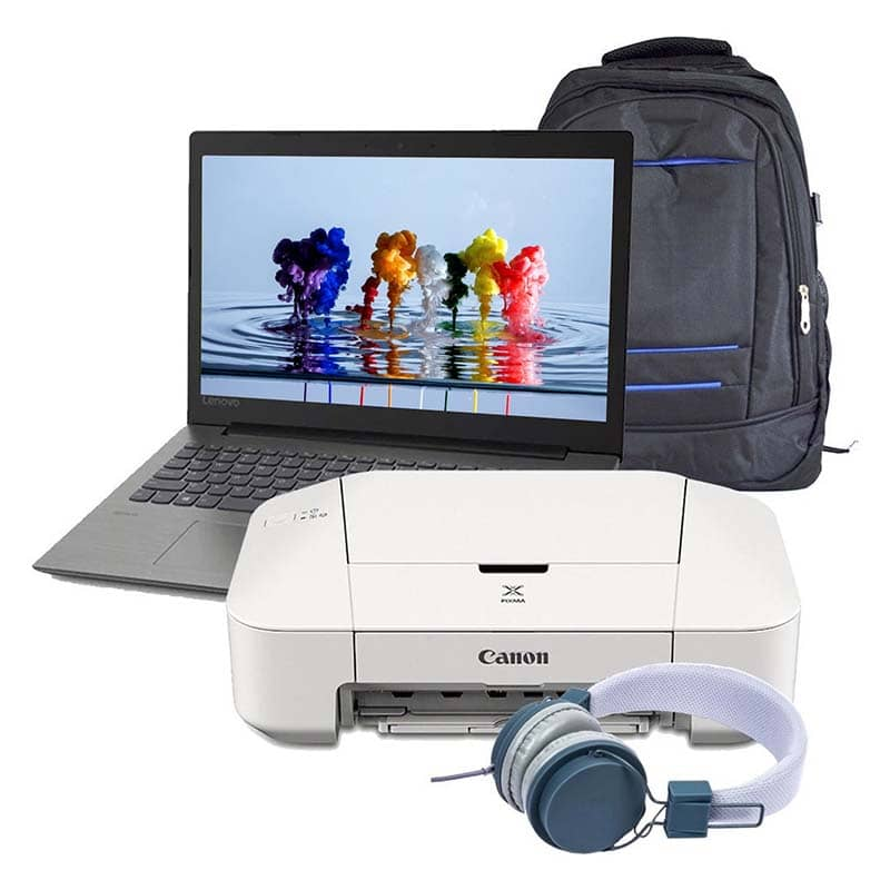 Laptop Lenovo V130 Intel Dual Core Ssd 128gb Ram 4gb Dvd 15.6 + Impresora+Mochila+Diadema
