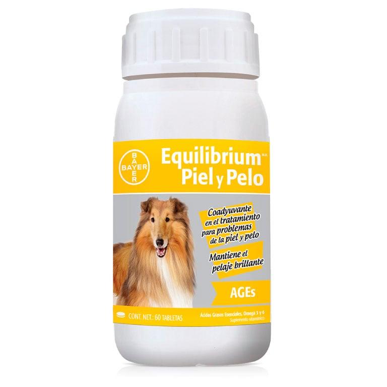 Vitaminas Equilibrium Bayer Ages - Piel Y Pelo 60 Tabletas para Perro