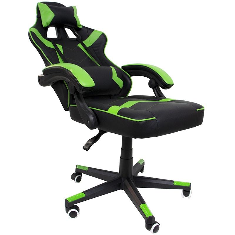 Silla Gamer Ergonomica Reclinable 200Kg Gaming Premium  Videojuegos Verde