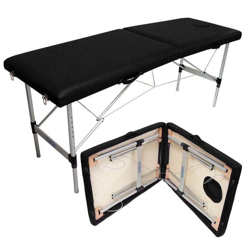 Cama Masaje Plegable Metalica Reforzada 200 kg Ajustable Negra Tatuajes Terapeuta Base Acero