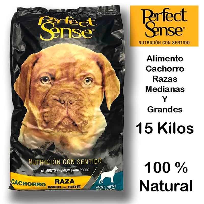 Alimento Perro Premium Perfect Sense Cachorro Raza Mediana A Grande 15 Kilos