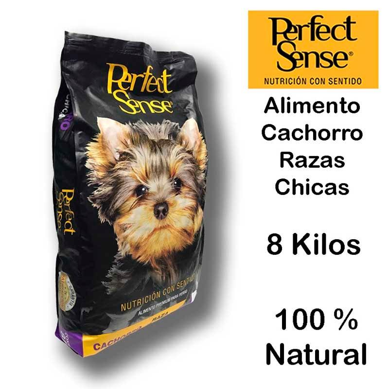 Alimento Perro Premium Perfect Sense Cachorro Raza Chica 8kg Natural