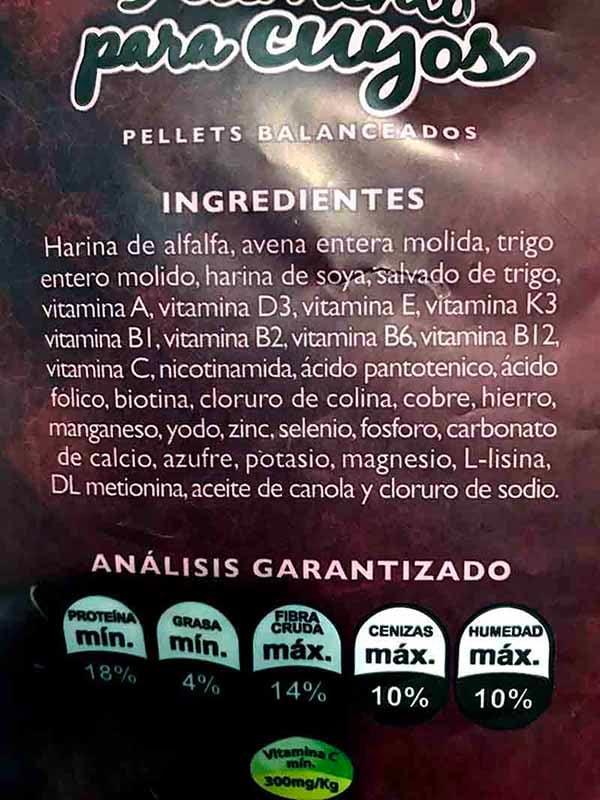 Alimento Para Cuyos Cobayas Conejillo De Indias Cuys 850 g X 3 Pz