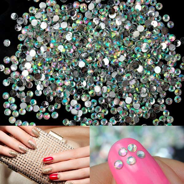 Cristal bolsa uñas