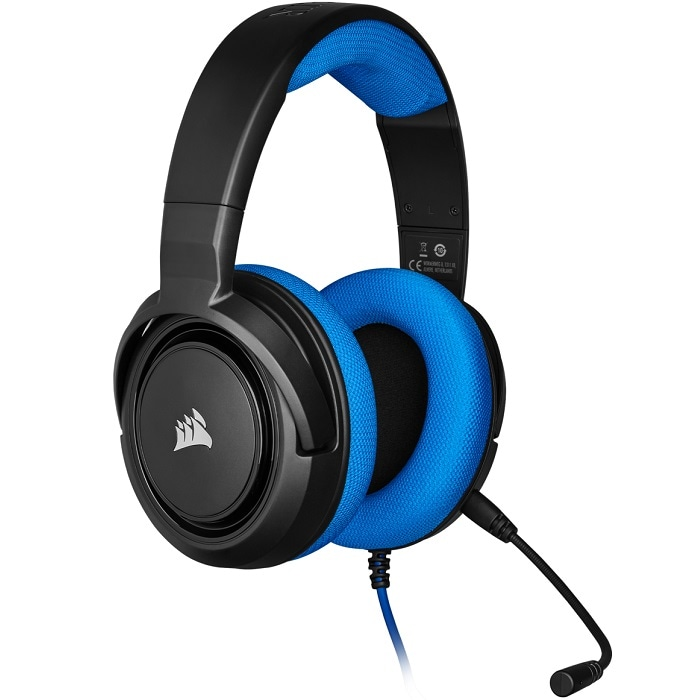 Diadema Corsair HS35 Stereo Gaming Headset 3.5mm Azul CA-9011196-NA