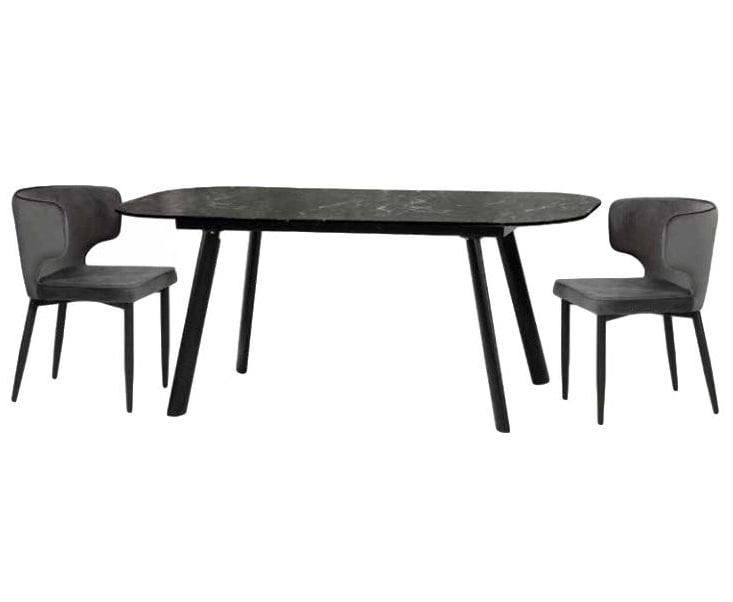 Mesa de Comedor Oslo Marmol Negro - Këssa Muebles