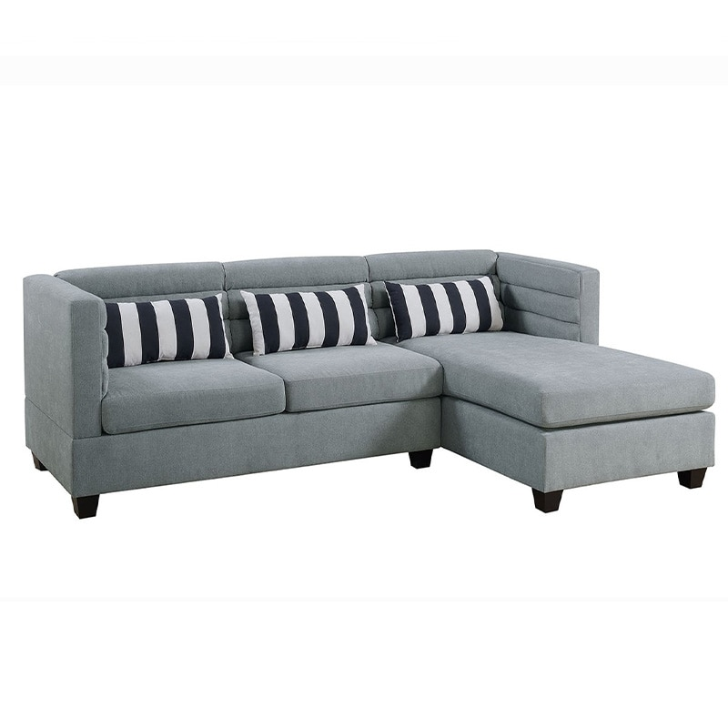 Sofa seccional de 2 piezas color cafe grisáceo (Taupe) F6996 - POUNDEX