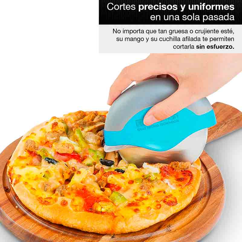 Redlemon Cortador de Pizza Ergonómico con Cubierta de Protección, Fabricado en Acero Inoxidable, Desarmable y Fácil de Lavar, Afilado