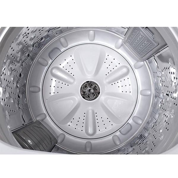 Lavadora automática Daewoo de 19 Kg con bajo consumo de agua y energía color blanco modelo DWF-DG1B386CSW1