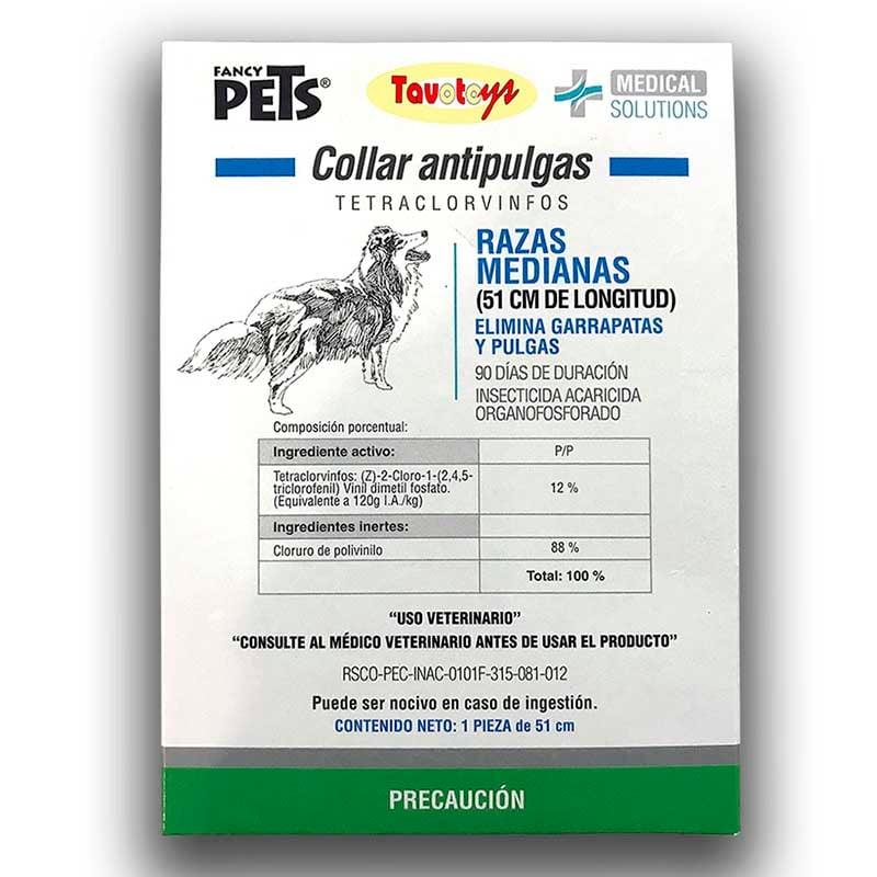 Collar Antipulga Antigarrapata Para Perro Mediano 51 Cms Collar Insecticida