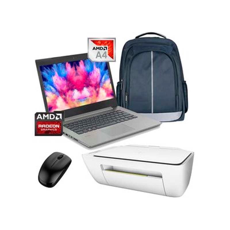 Laptop Lenovo Ideapad 330-14AST AMD A4-9125 500GB Ram 4gb +MOCHILA+IMPRESORA +MOUSE- Negro