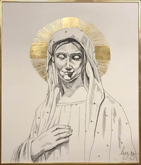 Cuadro Decorativo Madonna - Këssa Muebles
