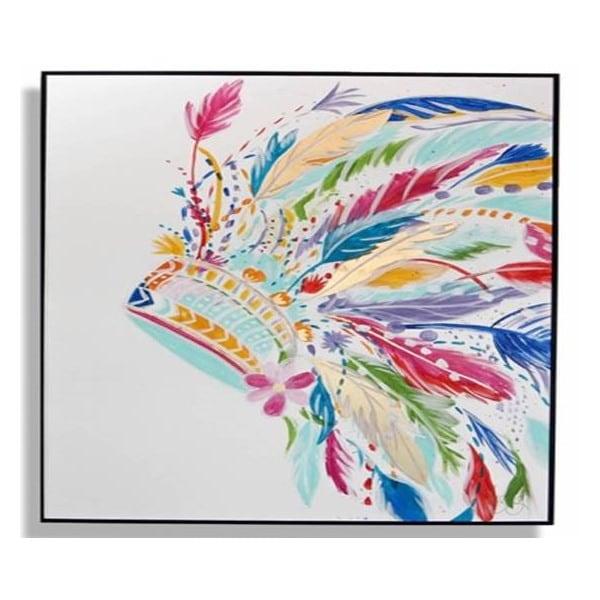 Cuadro Decorativo Penacho Colores - Këssa Muebles